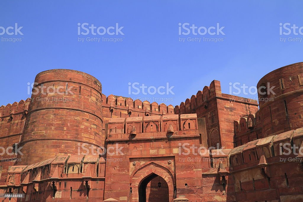 The Agra Fort royalty-free stock photo