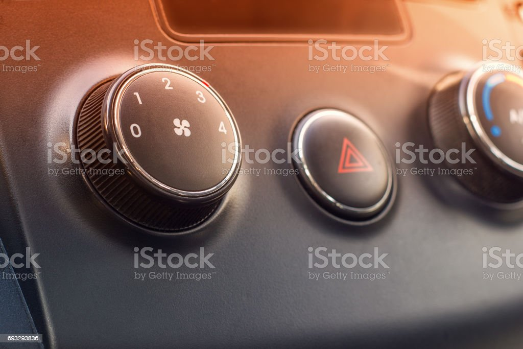 the air conditioner of the car stock photo