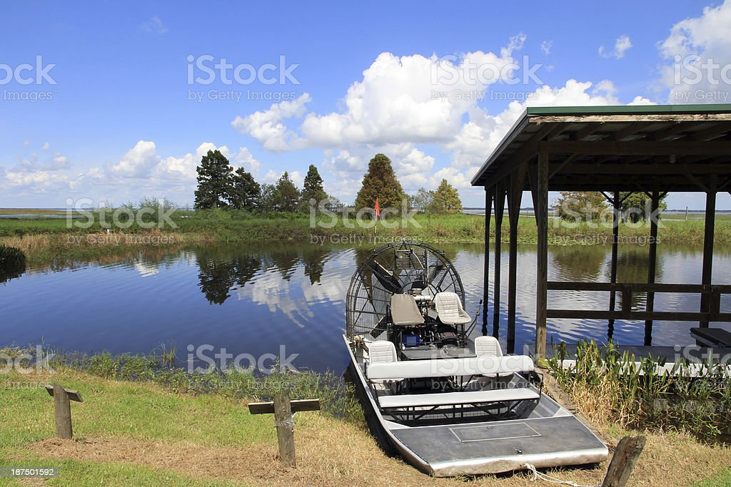 The airboat stock photo