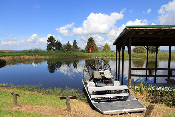 the airboat - kissimmee stock photos and pictures