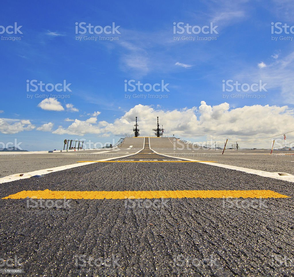 The aircraft carrier royalty-free stock photo