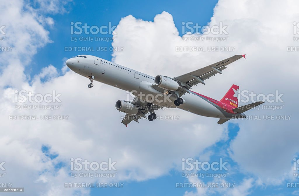 The airline Nordwind Airlines. stock photo