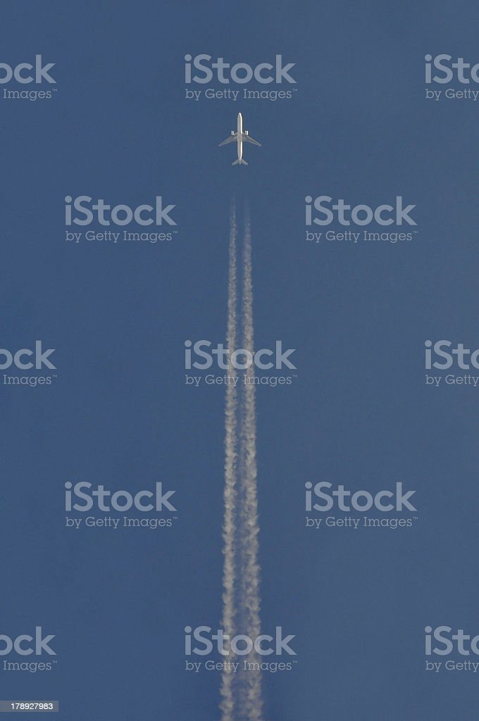 The airplane at your top royalty-free stock photo
