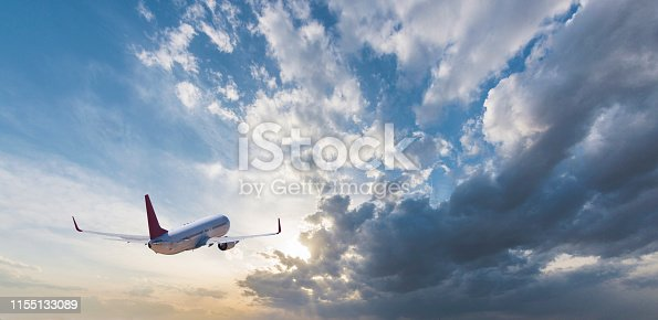 The airplane is flying towards the sky beautifully