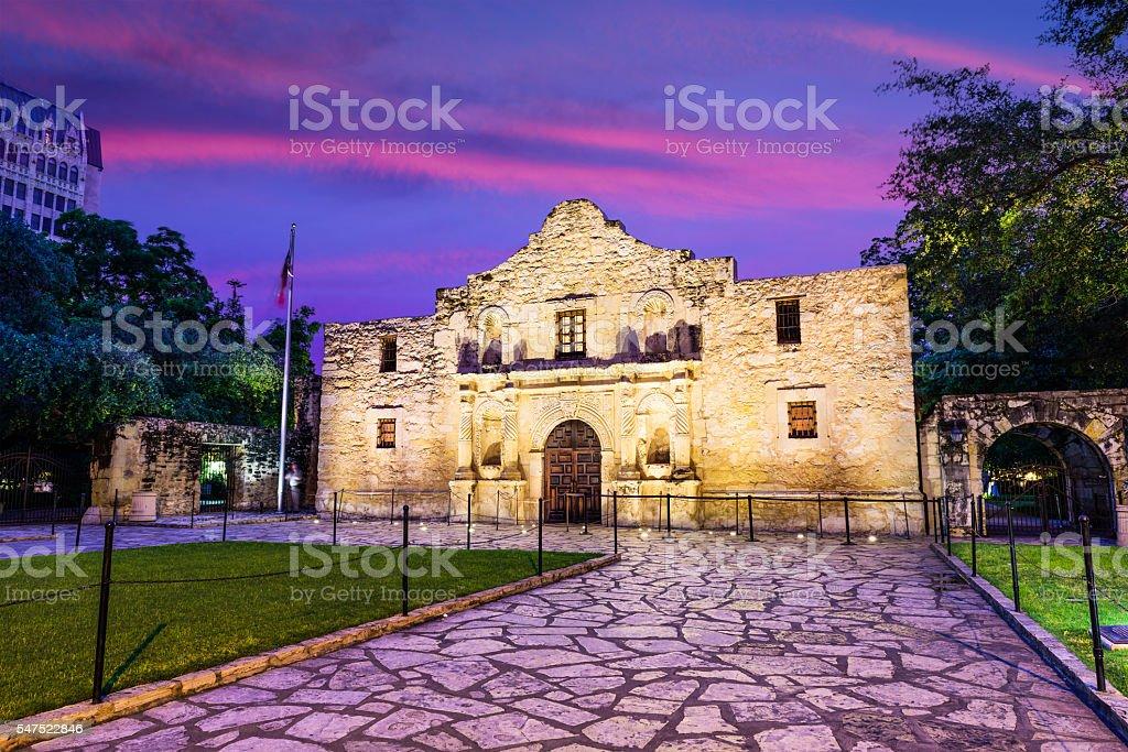 The Alamo at Dawn stock photo