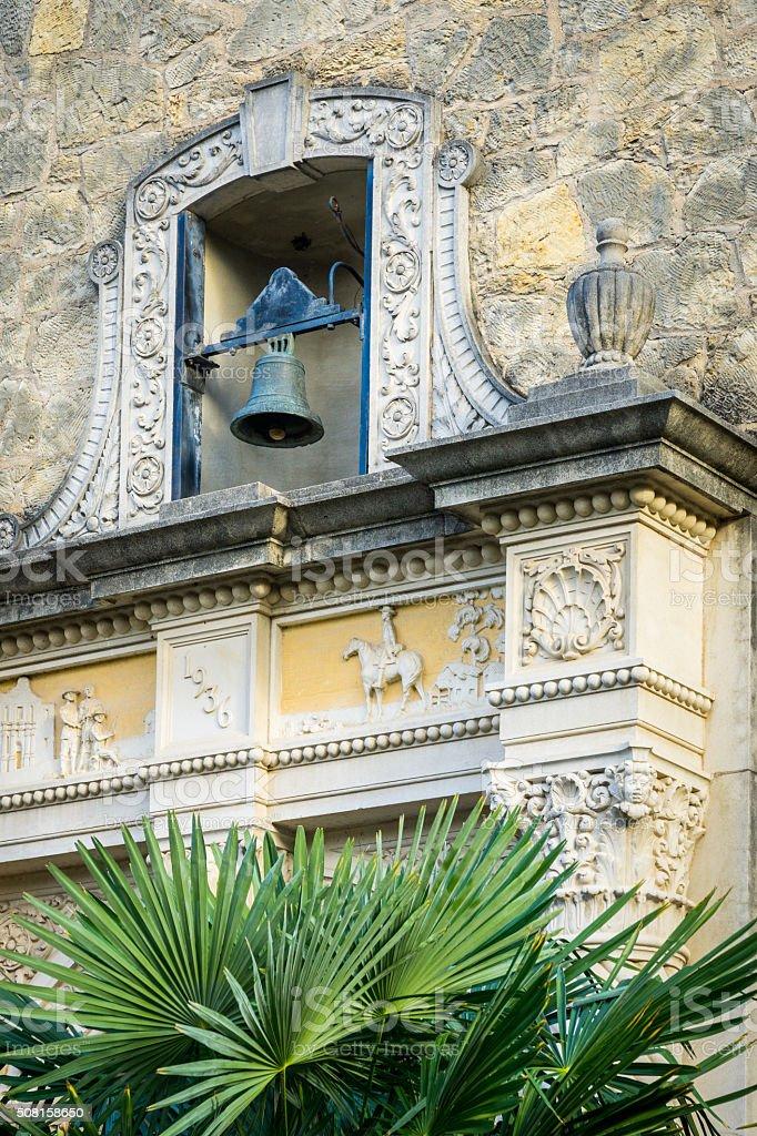 The Alamo Bell stock photo