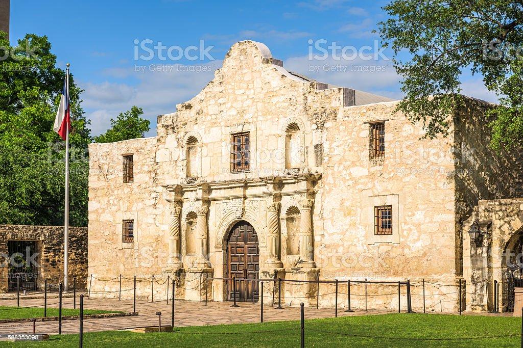 The Alamo in Texas stock photo