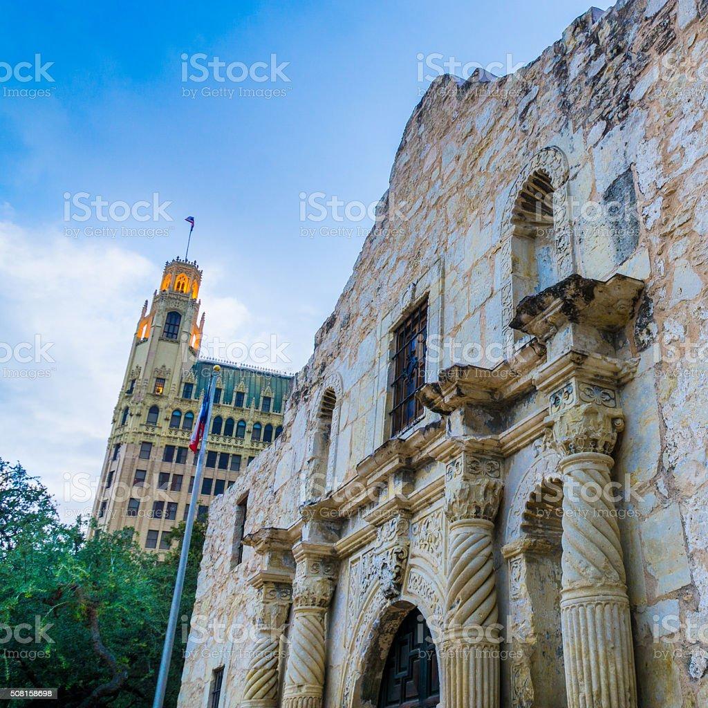 The Alamo Looking Up stock photo