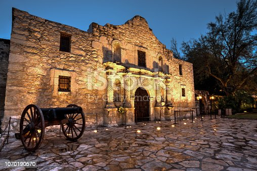 A High Dynamic Range shot of the historic Alamo early in the morning after a storm.