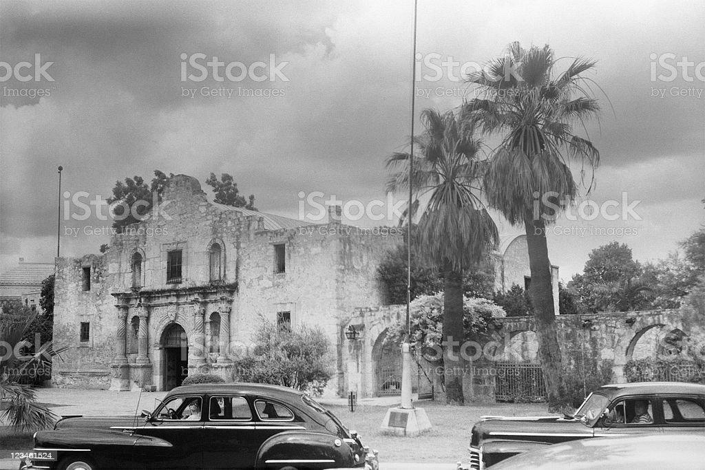 The Alamo, San Antonio, Texas 1949, retro stock photo