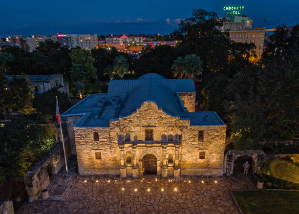 the alamo - san antonio, texas - the alamo stock photos and pictures