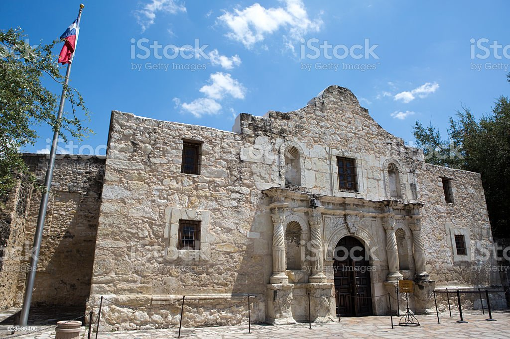 The Alamo Texas stock photo