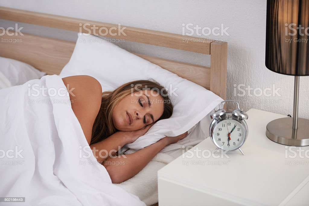 The alarm will go off soon... stock photo