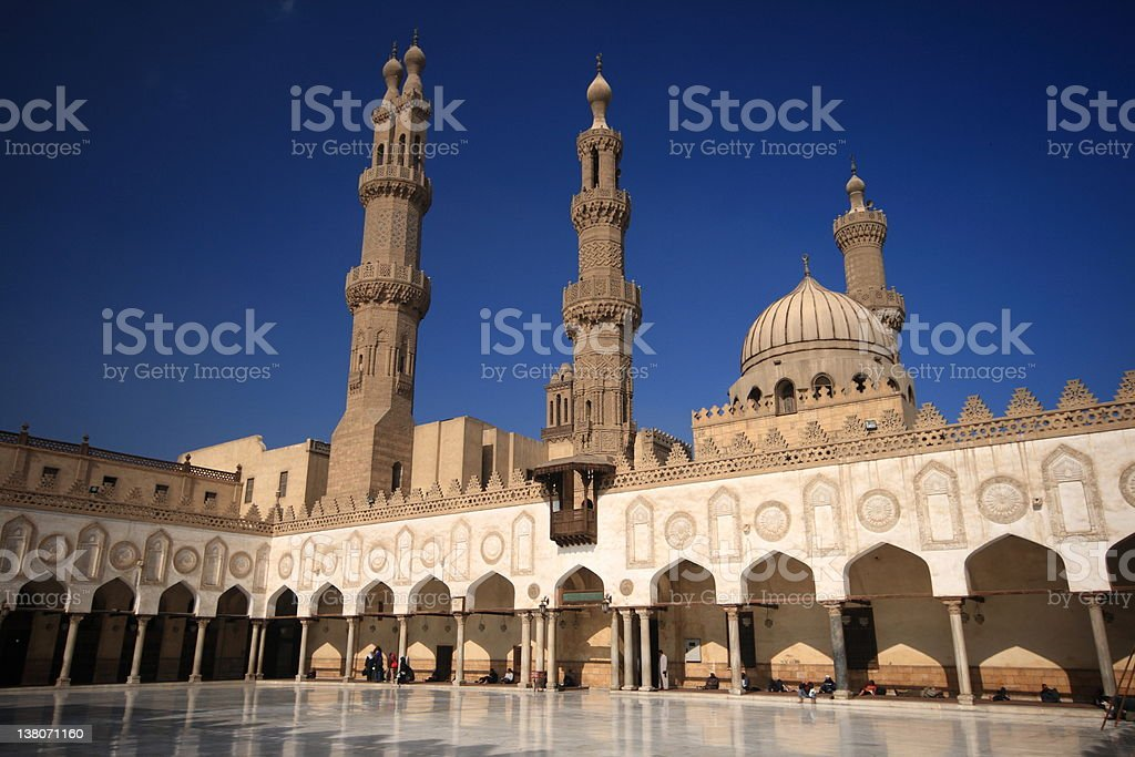 The Al-Azhar Mosque in Cairo, Egypt royalty-free stock photo