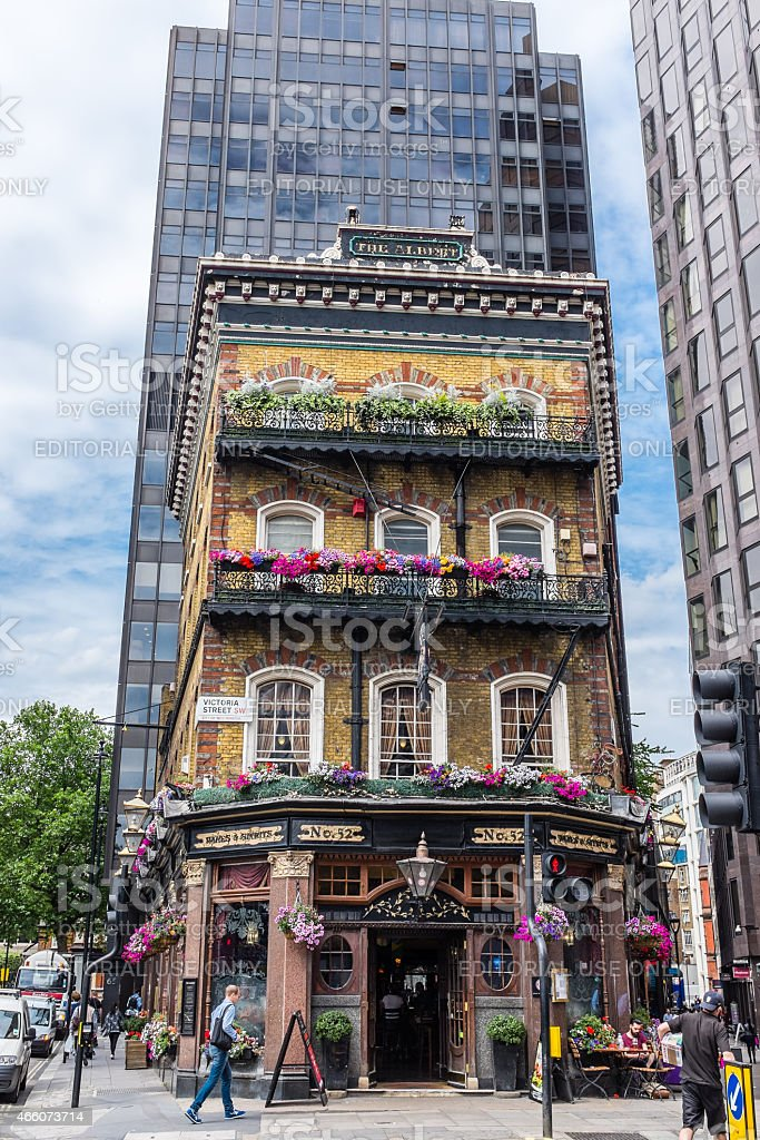 The Albert Pub in Central London stock photo
