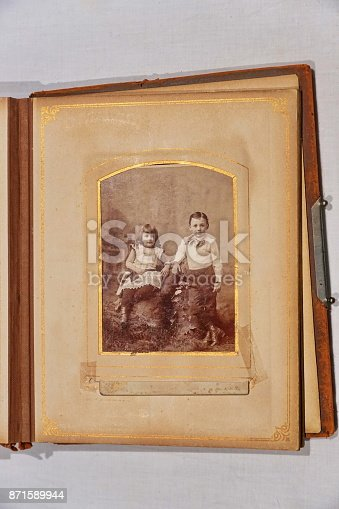 478384809 istock photo The album of our great grandparents. 871589944