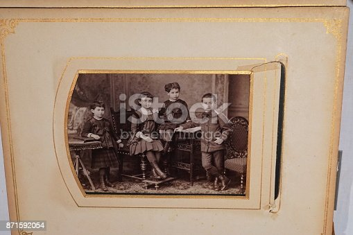 478384809 istock photo The album of our great grandparents. 871592054