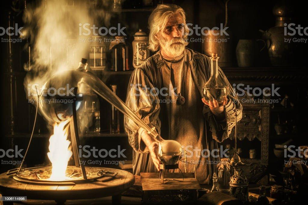 The Alchemist stock photo
