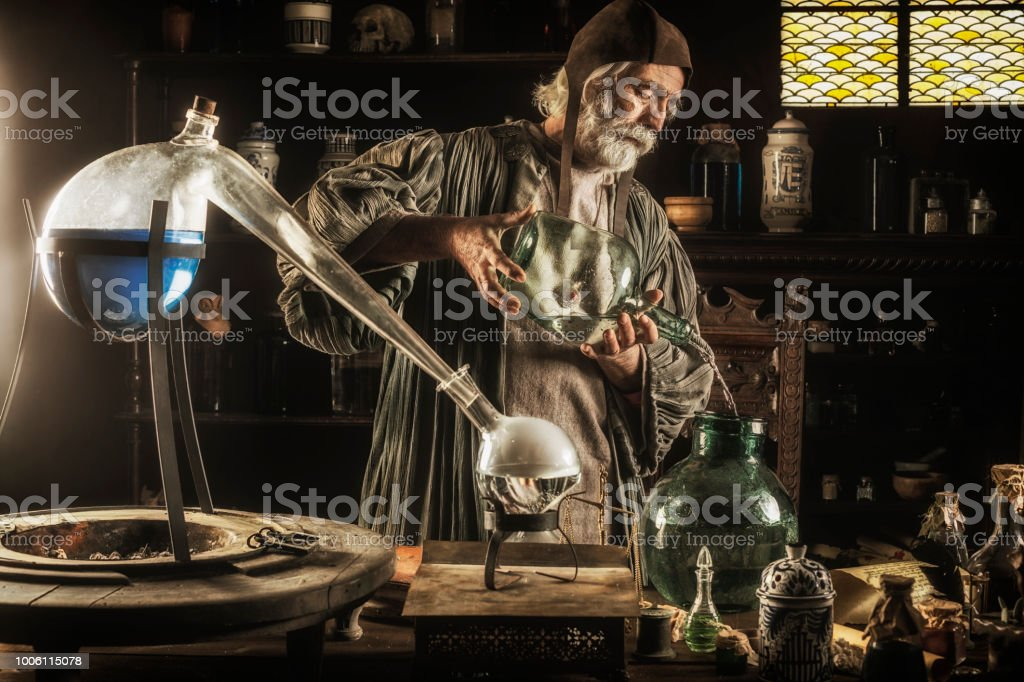 The Alchemist stock photo
