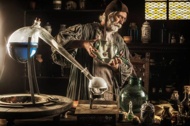 the alchemist - aluxum stock pictures, royalty-free photos & images