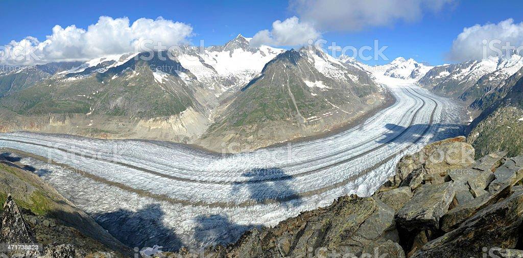 The Aletsch Glacier royalty-free stock photo