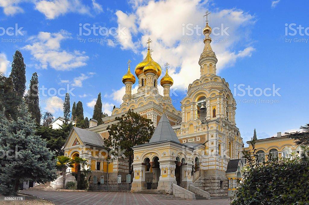 The Alexander Nevsky Cathedral stock photo