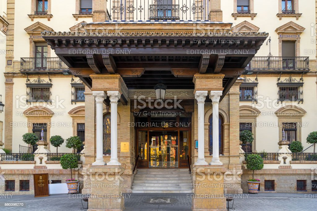 The Alfonso hotel in Seville stock photo
