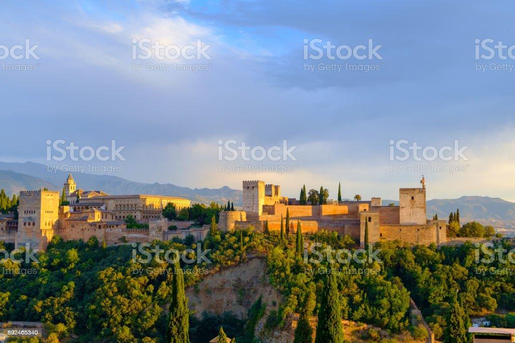 The Alhambra, Granada, Andalucia, Spain stock photo