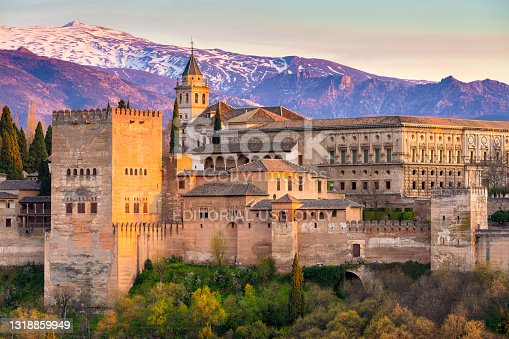 istock The Alhambra Palace at dusk in Granada, Andalucia, Spain 1318859949