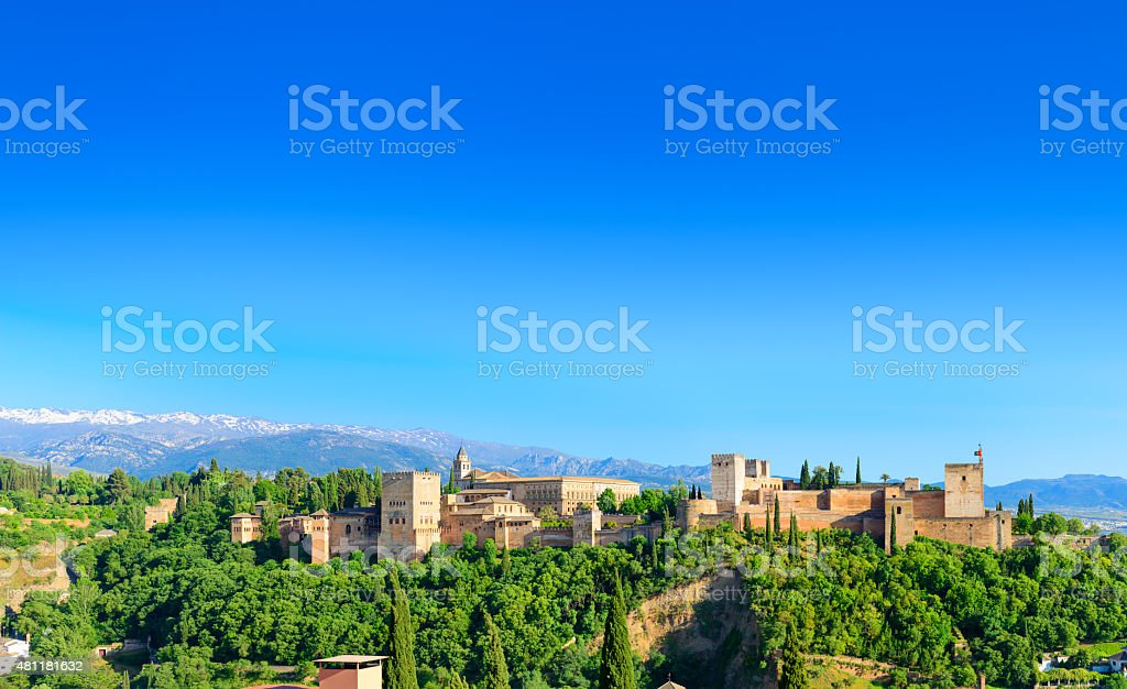 The Alhambra Palace Of Granada stock photo