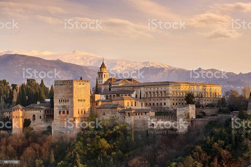 The Alhambra The Alhambra in Granada southern of Spain Alcazaba Of Alhambra Stock Photo