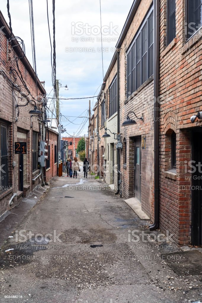 The Alley stock photo