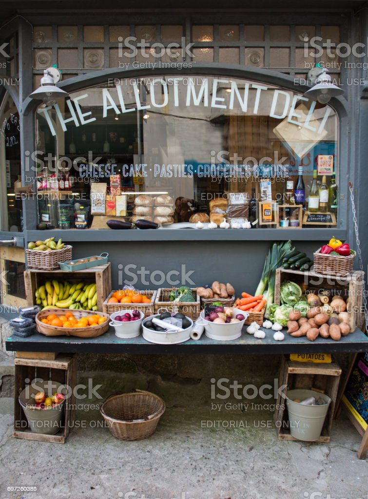 The Allotment Deli Facade stock photo