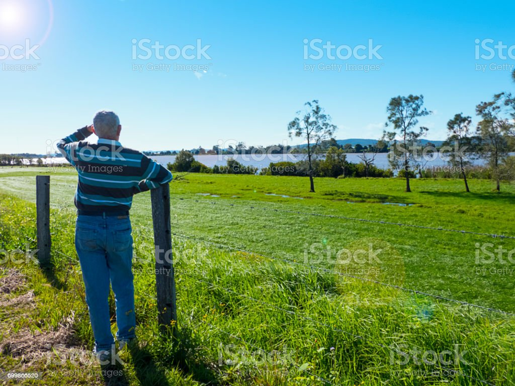 The Almighty Clarence River stock photo