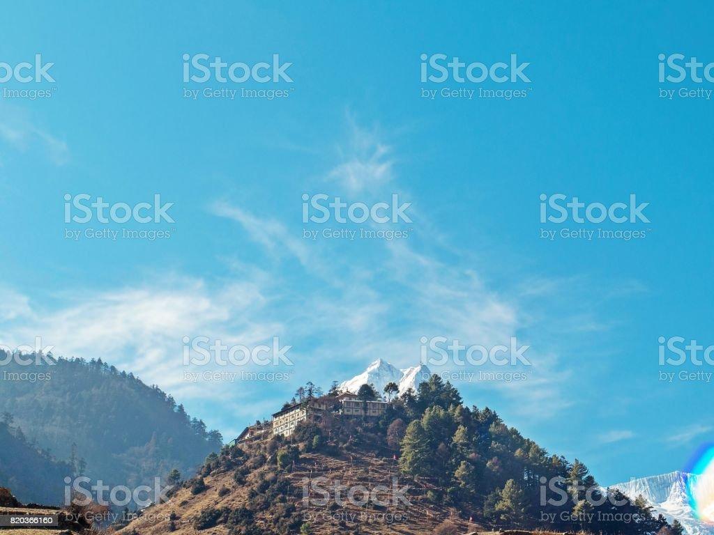 The almighty Manaslu stock photo
