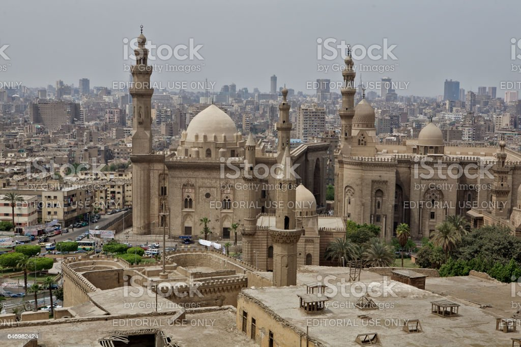 The al-Nasir Mosque inside the Citadel in Old Cairo, Egypt. stock photo