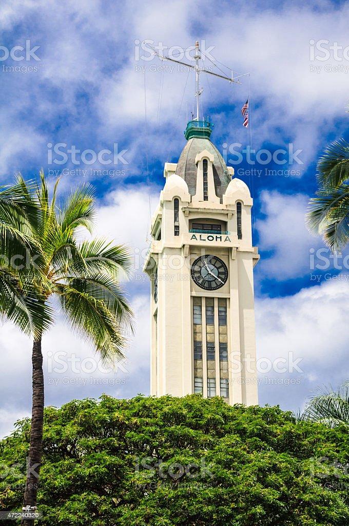 The Aloha Tower stock photo