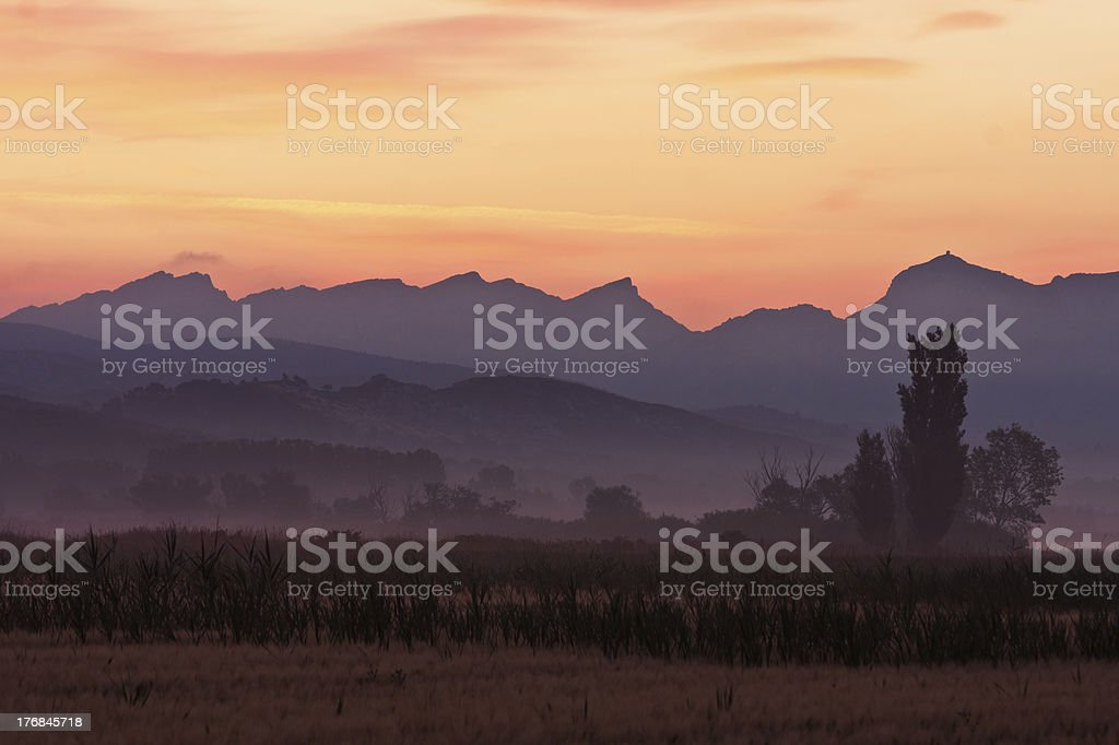 Les Alpilles in South France stock photo