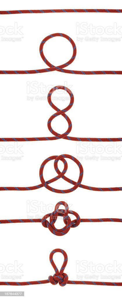The Alpine Butterfly Knot stock photo