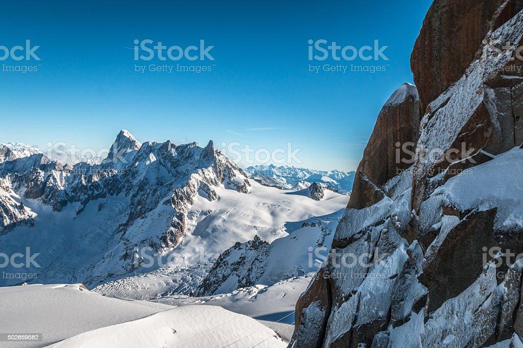 The Alpine mountains stock photo