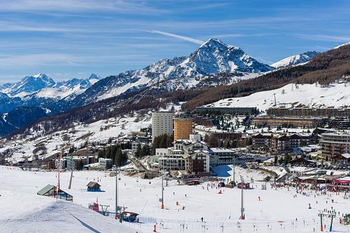 The alpine village of Sestiere