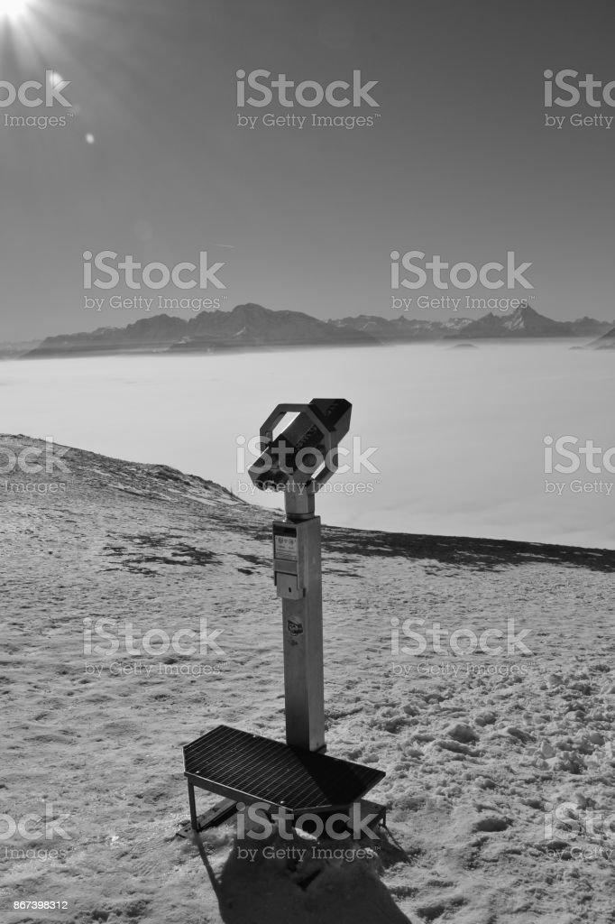 The alps in winter. Austria. stock photo