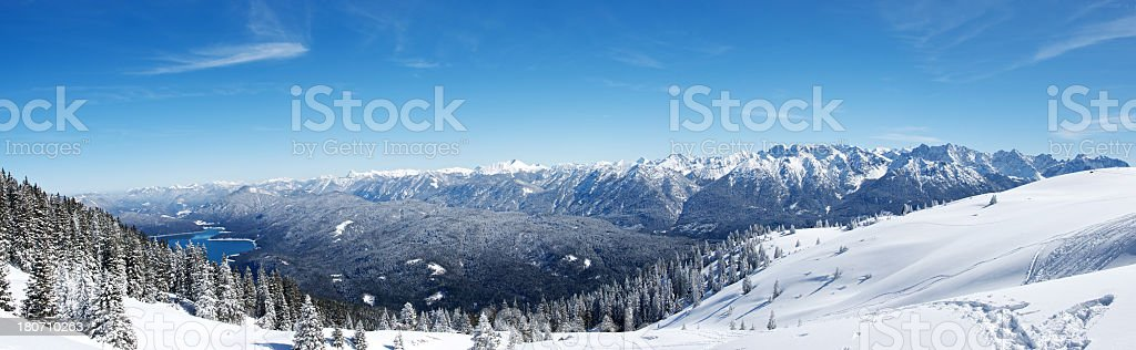 The Alps Panorama royalty-free stock photo