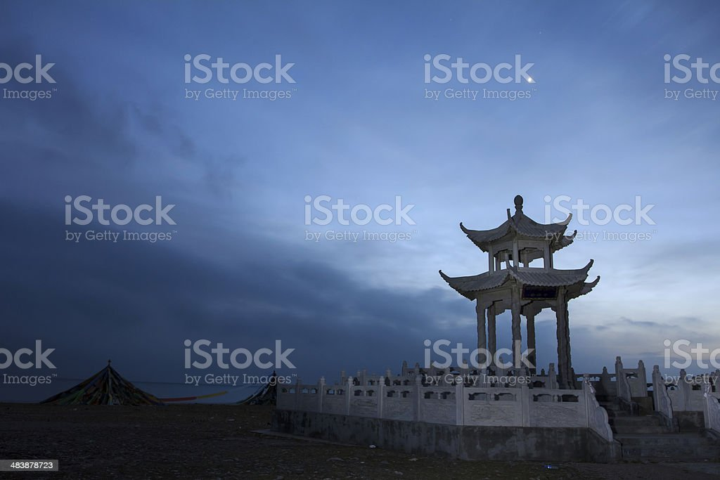 The altar in dawn royalty-free stock photo