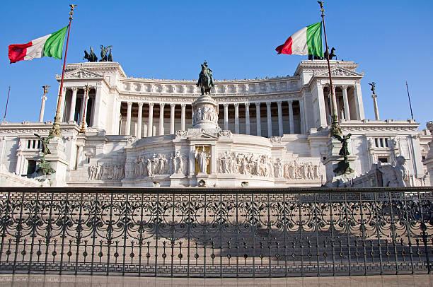 die altare della patria in rom, italien. - römisch 6 stock-fotos und bilder