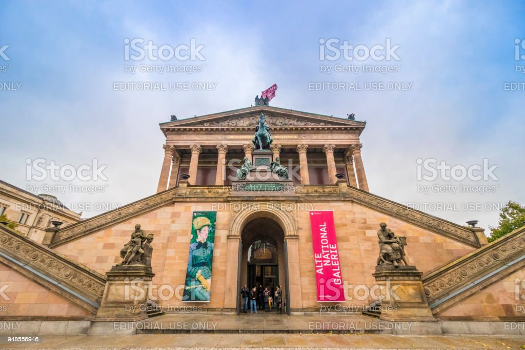 The Alte Nationalgalerie (Old National Gallery), situated in the Museum Island. stock photo