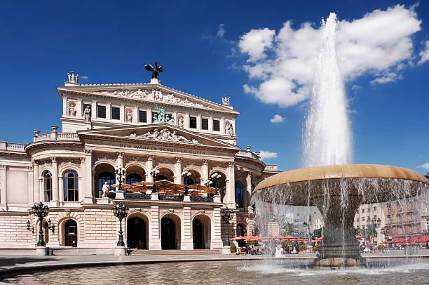 The Alte Oper in Frankfurt, Germany stock photo