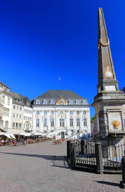 The Altes Rathaus (old town hall) as seen from the central market square. Bonn, Germany. stock photo