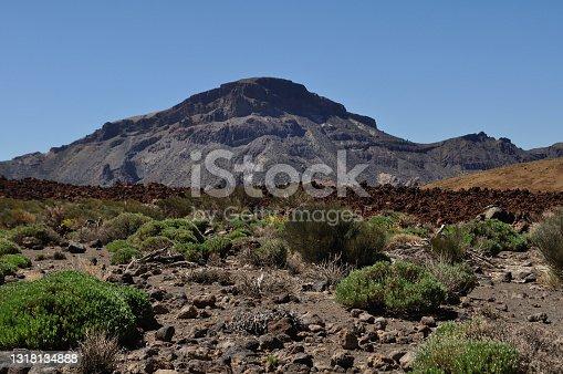 istock The Alto de Guajara dominates the valley of the Siete Cañadas 1318134888