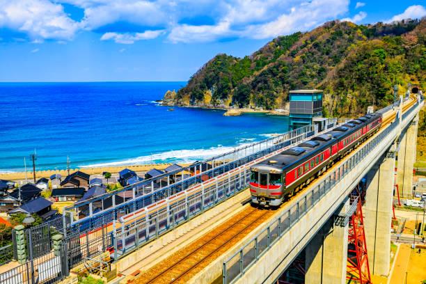 Die Eisenbahnbrücke von Amarube Viaduuct in der Präfektur Hyogo Japan – Foto